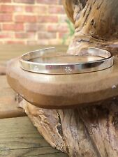 Hallmarked Personalised Handmade Sterling Silver Hammered or patterned Bangle