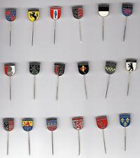 28 German City Crest Lapel Pins, Hat Pins, 1950's, Octoberfeat