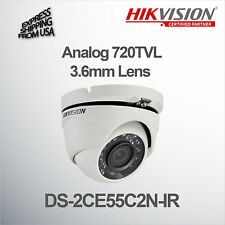 Hikvision 720TVL Dome Color Camera Outdoor 3.6mm Lens DS-2CE55C2N-IR Analog