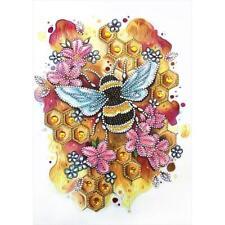 5D DIY Special Shaped Diamond Painting Bee Cross Stitch Mosaic Craft Kits N#S7