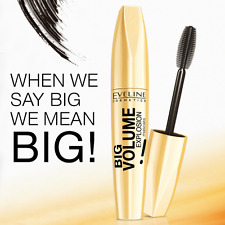 EVELINE BIG BRUSH VOLUME EXPLOSION MASCARA Perfect covering DEEP BLACK 12ml