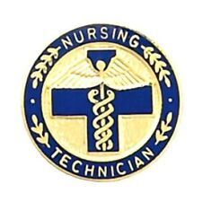 Nursing Technician Lapel Pin Blue Cross Caduceus Medical Emblem Graduation 5048