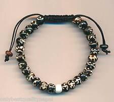 """Armschmuck aus Nepal Armband Knochen Sanskrit """"OM"""" Bracelet Pulsera 66e"""