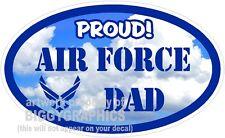 AIR FORCE DAD VINYL DECAL PROUD