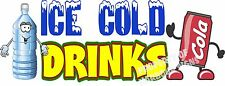 "Ice Cold Drinks 14"" Decal Water Soda Pop Can Concession Food Truck Vinyl Sticker"