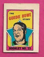 1971-72 RED WINGS GORDIE HOWE  BOOKLET INSERT (INV# C7238)