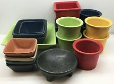 (18) Pieces Bugambilia and Other Commercial Metal Restaurant Food Containers