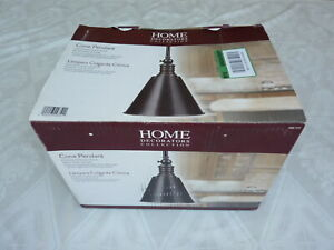 Home Decorators Collection Weathered Bronze Cone Pendant Light Model....606372