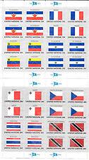 Naciones Unidas. Conjunto de 8 Hojas Bloques Banderas