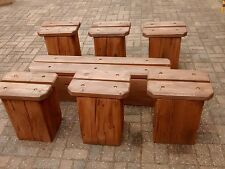 Garden Furniture Handmade handmade wooden garden & patio furniture sets | ebay