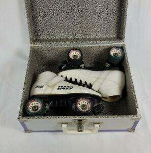 Vintage Labeda Pacer LT429 White Hard Candy Roller Skates Size 7 in Hard Case