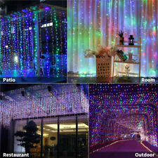 300 LED Curtain Fairy Lights String Hanging Wall Lights Party UK