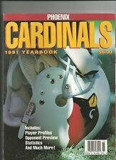 1991 PHOENIX CARDINALS YEARBOOK NFL FOOTBALL PROGRAM