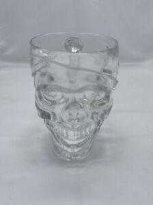 Treasure Island Casino 32 oz Glass Skull Pirate Mug Cup Las Vegas Excellent Cond