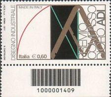 2011 francobollo Made in Italy: Compasso D'Oro ADI DN CODICE A BARRE 1409