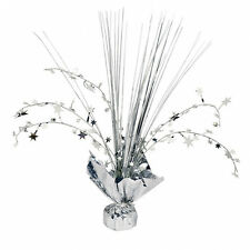 Silver Star Spray Table CENTREPIECE 25th Silver anniversary Table decoration