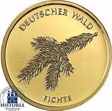 """Deutschland 20 Euro Gold """"Fichte"""" Serie Deutscher Wald 2012 Goldmünze Mzz F"""