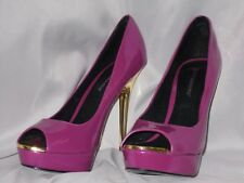WOMEN'S SHOES SIZE 10 JUST FABULOUS HEELS FUSCHIA  PINK GOLD PARTY NEW YEARS