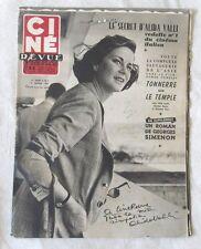 CINE-REVUE 9 janvier 1953 ALIDA VALLI OLIVIA DE HAVILLAND BRIGITTE FOSSEY
