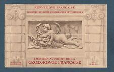 timbres France carnet croix rouge  1952 **