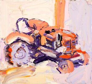 "Craig Waddell (1973-) - ""Lilac Tractor"" Original"