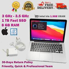 "MacBook PRO 13.3"" Inch Retina 1TB SSD i7 3GHz-3.5GHz 8GB RAM Fast Apple Laptop"