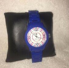 Timepieces by Randy Jackson SPORT Round BLUE Multicolor Dial SWISS Watch NEW