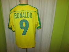 "Brasilien ""CBF"" Nr.1070 Nike Weltmeisterschaft Trikot 1998 + Nr.9 Ronaldo Gr.M"