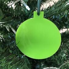 vert citron boule en forme de décorations ARBRE NOËL, & ruban, Paquet 10