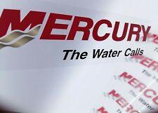 "x4 Mercury Stickers Transparant UV Print ,Clear PVC Stickers 6"""