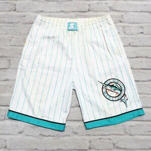 Vintage Florida Marlins Pinstripe Shorts by Starter Size M Miami