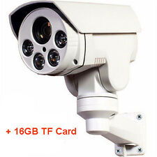 "AHD 960P 4X ZOOM 1/3"" CMOS IP66 ONVIF PTZ Bullet Camera CCTV IR Home Security"