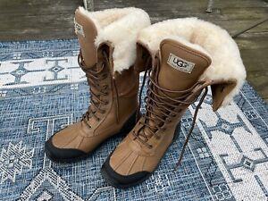 UGG Australia Womens Adirondack Tall Otter 5498 Sheepskin Snow Boots Size 7