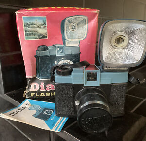 Diana F Lomography Camera with Flash and Box