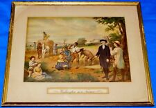 (George) Washington As a Farmer by Junius Brutus JB Stearns 14x11 Framed Print