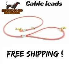 5 ft Dog Leash Cable Lead Heavy Duty HUNTING DOG-AIRCRAFT CABLE ! STRONG !