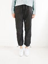 HOF115:H&M Studio Hose jogging schwarz / Crinkled nylon trousers black 34 UK 8