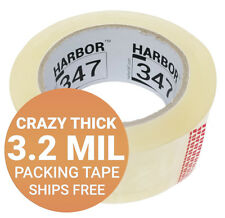 "Harbor 347 Packaging Packing Tape 1 Roll 3.2 mil 1.88"" x 60 yds Super Heavy Duty"