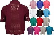 Short Sleeve Cropped Plus Size Jumpers & Cardigans for Women