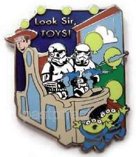 Disney Pin HTF Stormtroopers Toy Story Mania Woody PIXAR Ride Star Wars Retired