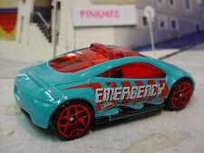 2014 FLAME FIGHTERS Ex MITSUBISHI ECLIPSE CONCEPT☆Blue;Emergency☆LOOSE☆HotWheels