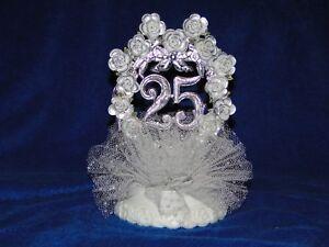 New WILTON 25TH Wedding Anniversary Cake topper in Silver