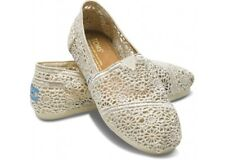 Toms Authentic Natural Morocco Crochet Toms Shoes Brand New