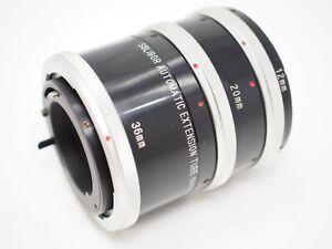 Soligor Auto Extension Tube Set for Canon FD Cameras