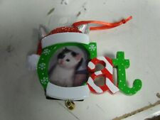 Cat Photo Personalized CHRISTMAS ORNAMENT