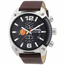 New Diesel Men's DZ4204 Advanced Watch with Brown Leather  Band