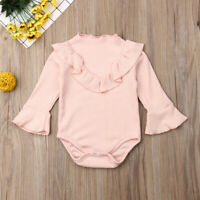 Newborn Infant Baby Girls Long Sleeve Romper Jumpsuit Bodysuit Outfit Clothing