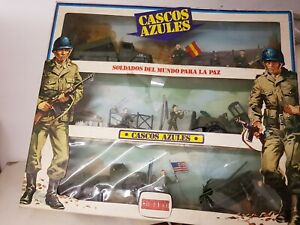 1960/70's COMANSI-Spain toy soldier gift set CASCOS AZULES mint in box top cond.
