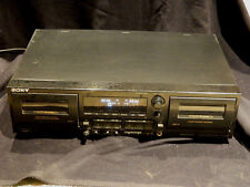 SONY TC-WR565 STEREO DUAL CASSETTE DECK For Parts OR Repair