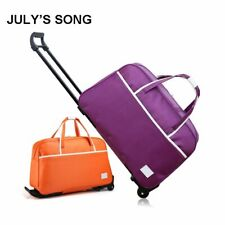 """Luggage Carry on Bag Rolling Suitcase Trolley With Wheels Waterproof Travel 18"""""""